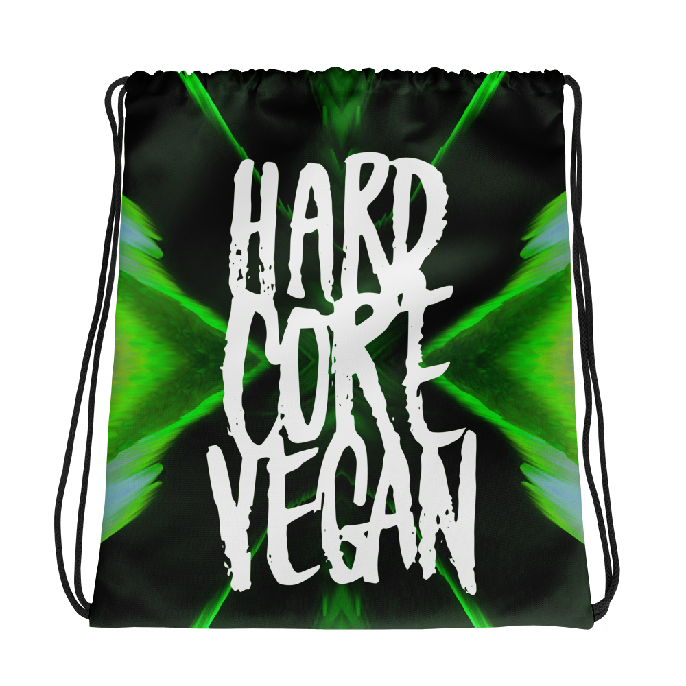 Vegan Bag - Vegan Drawstring Bag - Vegan Gains - Green