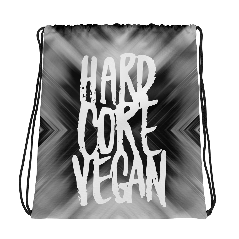 Vegan Bag - Vegan Drawstring Bag - Vegan Gains - Grey