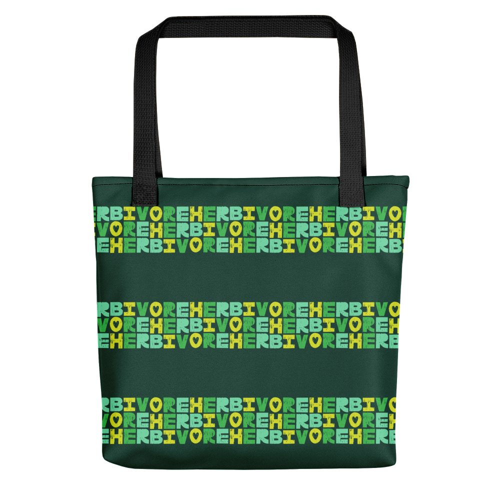 Vegan Bag - Vegan Tote Bag - Herbivore Heart - back