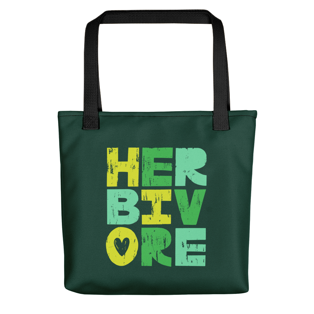 Vegan Bag - Vegan Tote Bag - Herbivore Heart - front