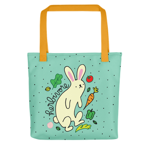 Vegan Bag - Vegan Tote Bag - Herbivore Rabbit