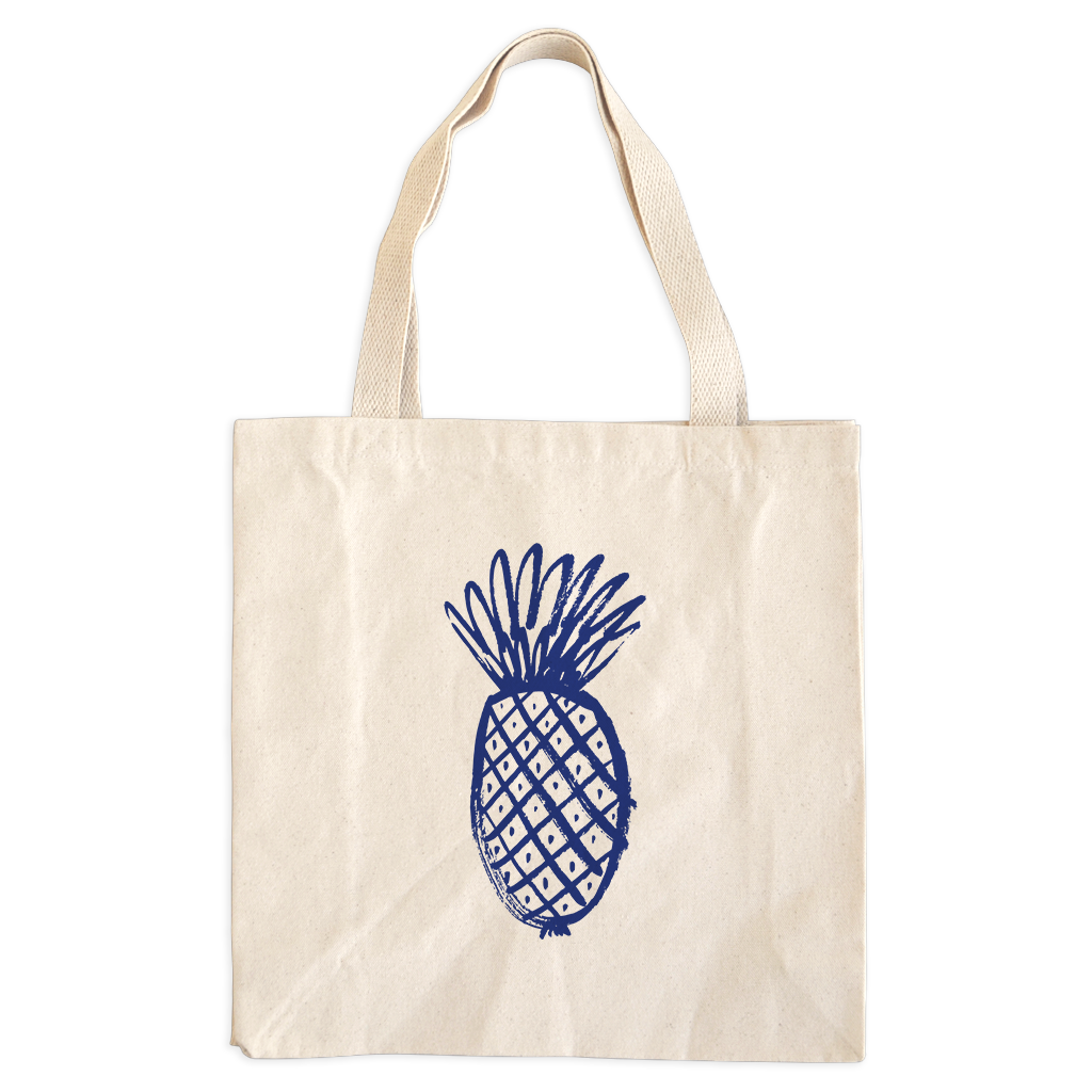 Vegan Bag - Vegan Tote Bag - Pineapple