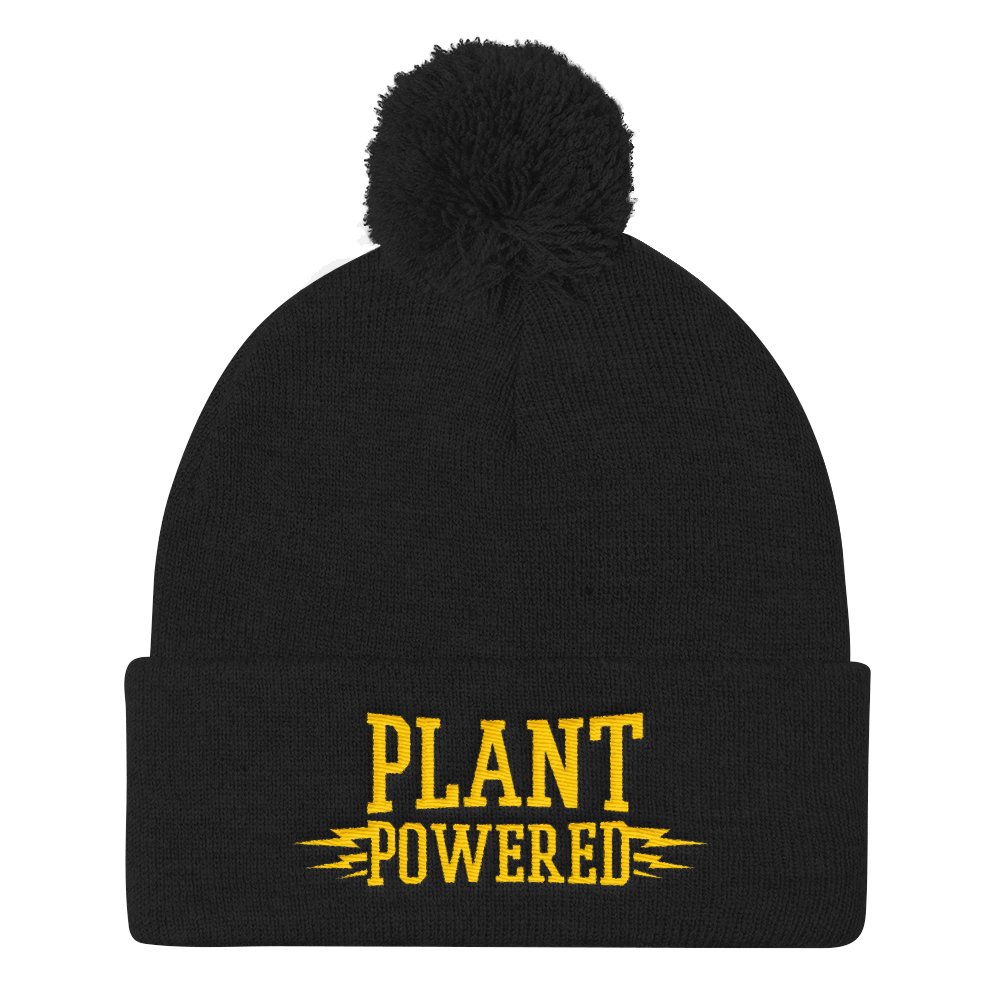 Vegan Beanie Hat - Plant Powered Hat - Black