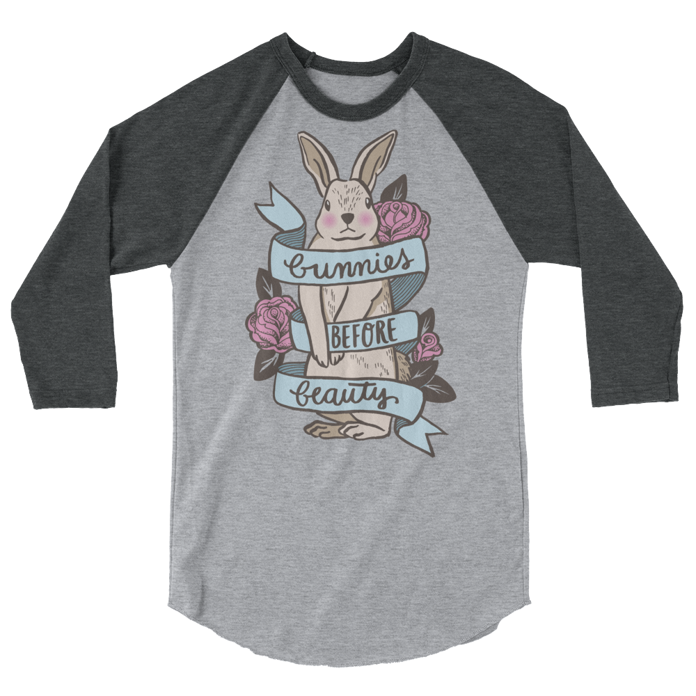 Long Sleeve Vegan Shirt - Bunnies before Beauty