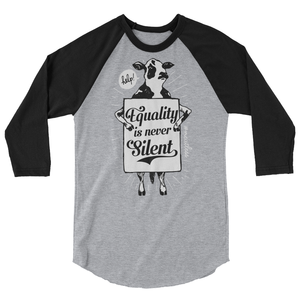 Long Sleeve Vegan Shirt - Equality is Never Silent