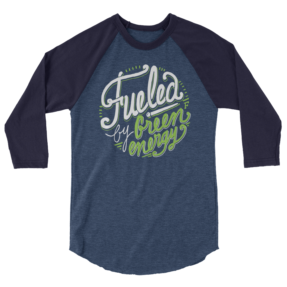 Long Sleeve Vegan Shirt - Fueled by Green Energy