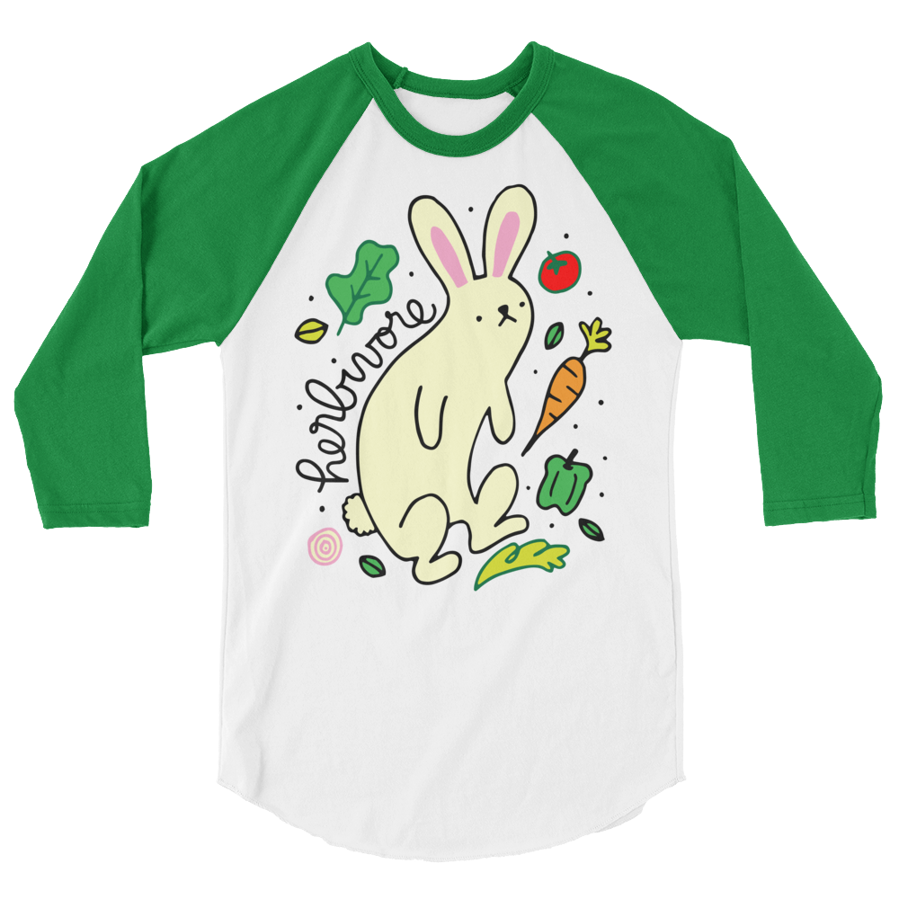 Long Sleeve Vegan Shirt - Herbivore Rabbit