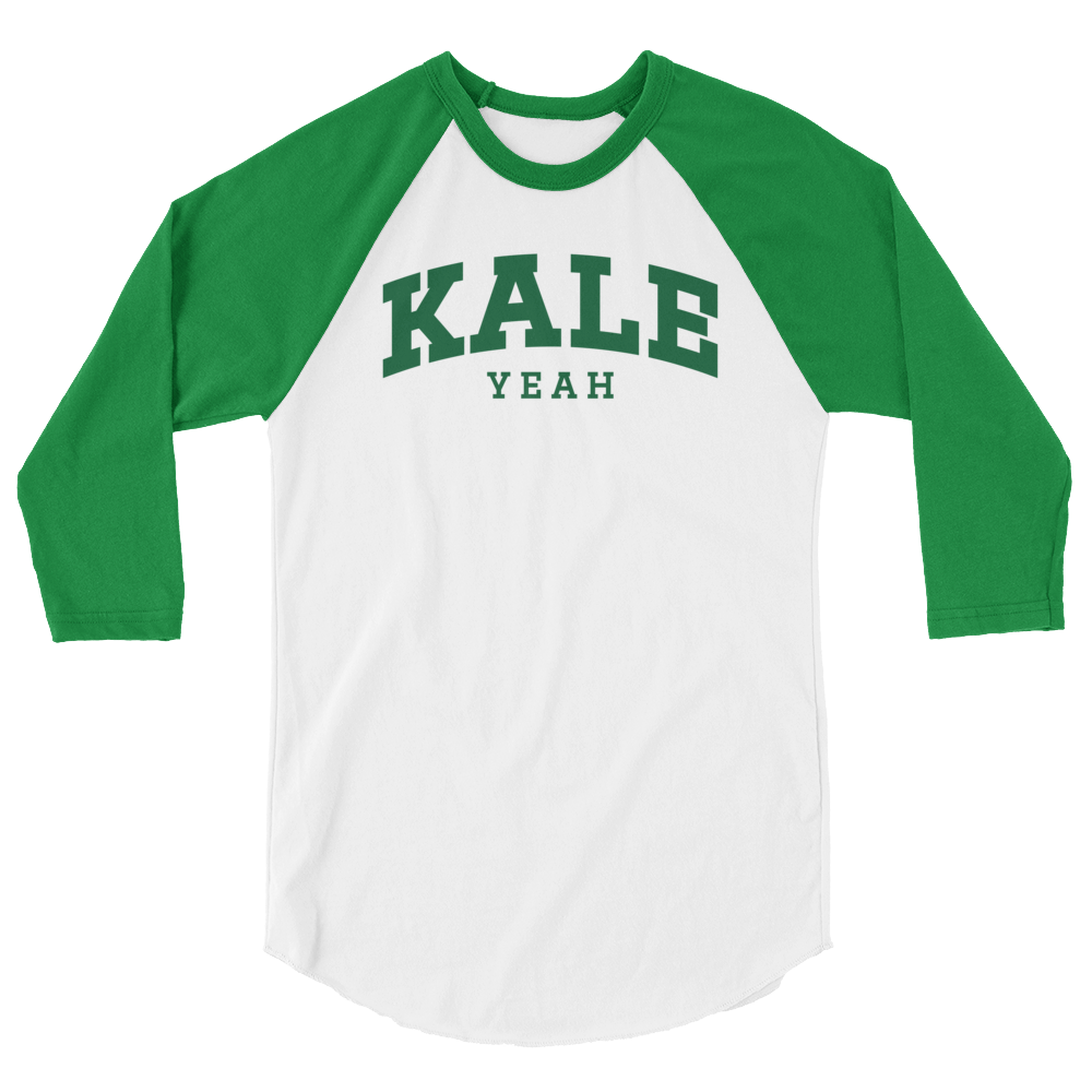 Long Sleeve Vegan Shirt - Kale Yeah College