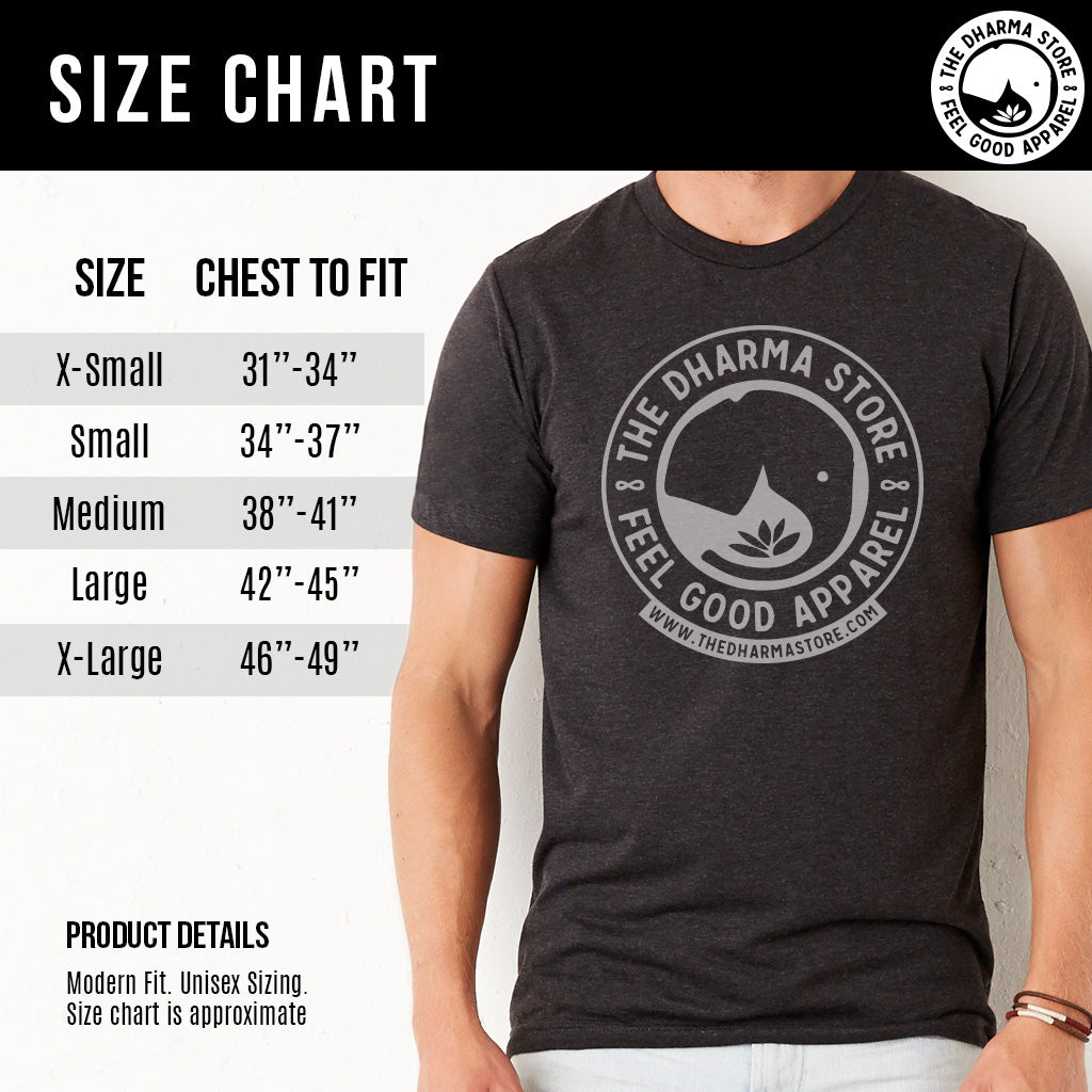 Vegan Yoga Shirt Men Size Chart