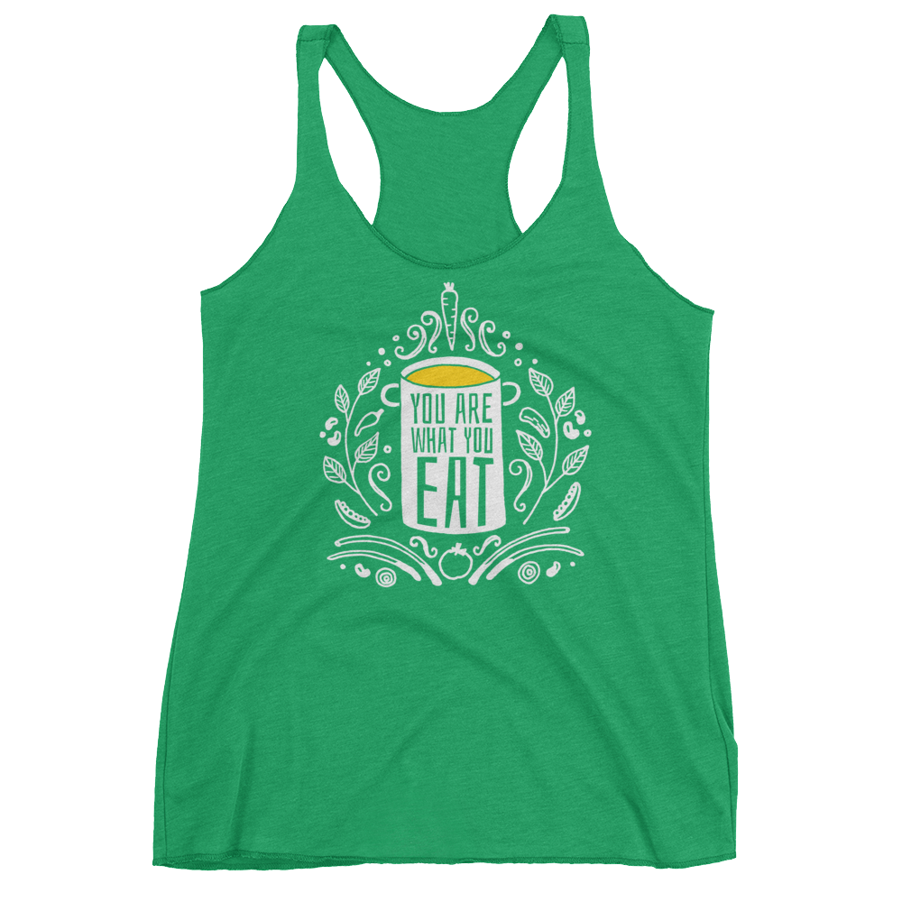 Vegan Tank Top - You Are What You Eat - Envy (Green)