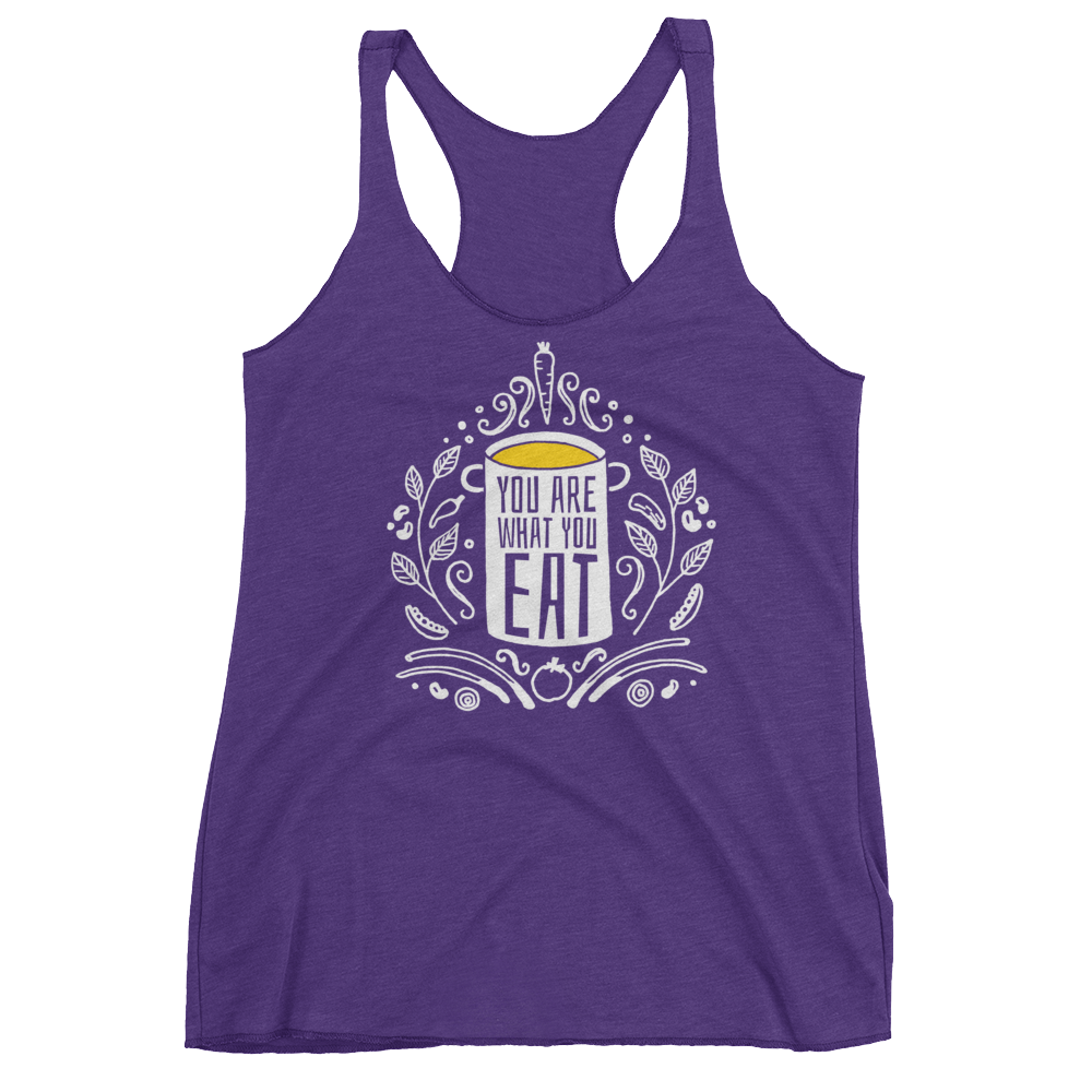 Vegan Tank Top - You Are What You Eat - Purple Rush