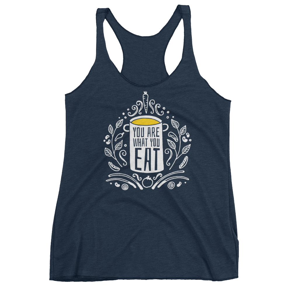 Vegan Tank Top - You Are What You Eat - Vintage Navy