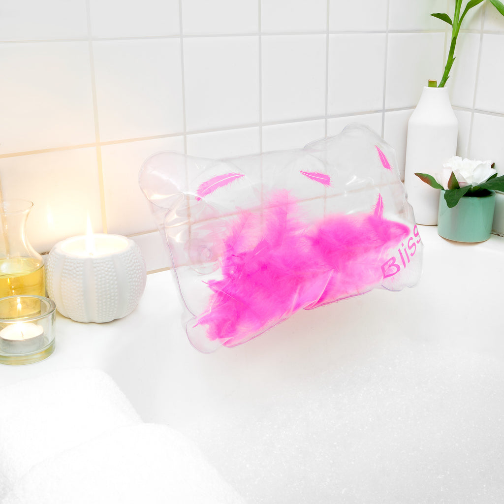 Bath Pillow - Inflatable With Feathers! – Simply Essential Products