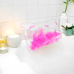 Bath Pillow - Inflatable With Feathers!