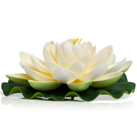 BEST FLOATING FLOWERS SET of 4  - Extra Large - 11 Inch Each (White)