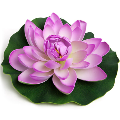 BEST FLOATING FLOWERS SET of 4  - Extra Large - 11 Inch Each (Purple)
