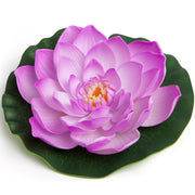 BEST FLOATING FLOWERS SET of 6 for Weddings - Water Features - Large - 8 1/2 Inch Each (Lavendar)