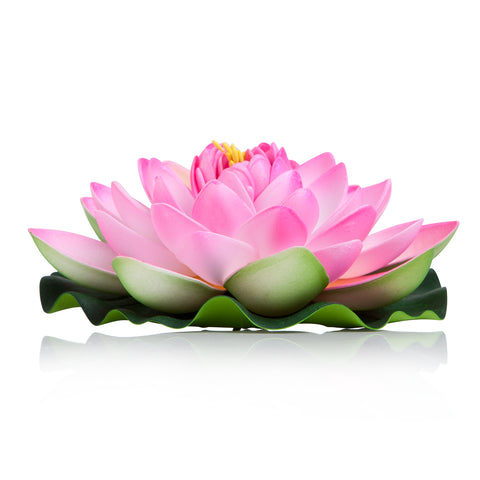 BEST FLOATING FLOWERS SET of 6 for Weddings - Water Features - Large - 6 1/2 Inch Each (Pink)