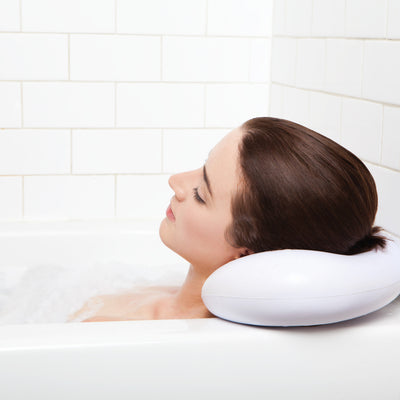 Bath Pillow - Luxury Spa Bath Pillow With Heavy Duty Suction Cups.