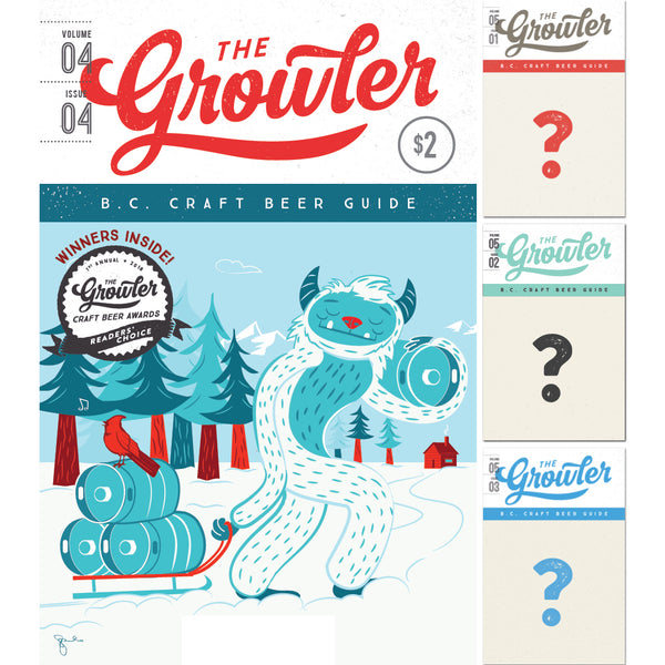 The Growler B.C. Four-Issue Subscription Winter 2018
