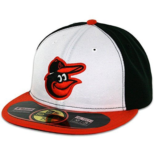 Baltimore Orioles MLB 59Fifty Fitted Cap by New Era (White-Orange)
