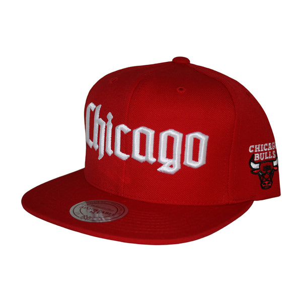 Chicago Bulls Gothic City Snapback Cap by Mitchell & Ness
