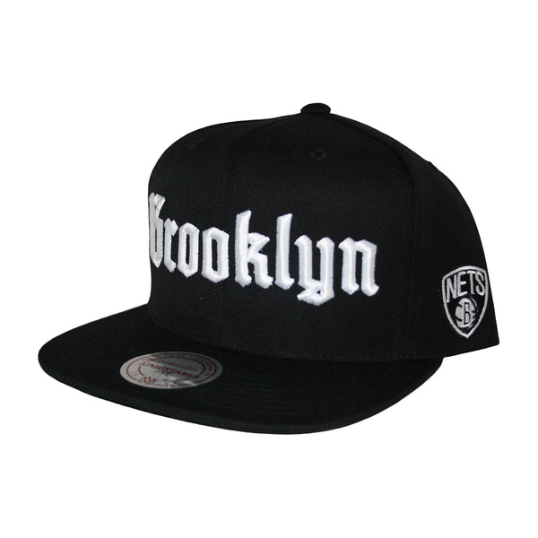 Brooklyn Nets Gothic City Snapback Cap by Mitchell & Ness