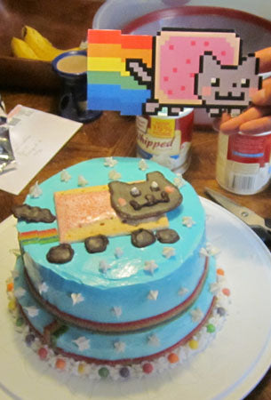Nyan Cat Pop Tart Cake GeekPrints