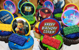 Emmet Brickowski and Friends Cupcake Toppers