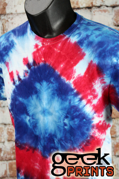 Hero Tie Dye inspired by Captain America  Unisex Adult Medium