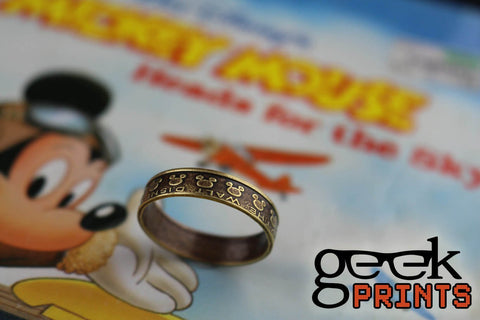 Mickey Mouse Disney Brass Token Ring
