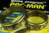 Brass Arcade Token Ring with Pac-Man