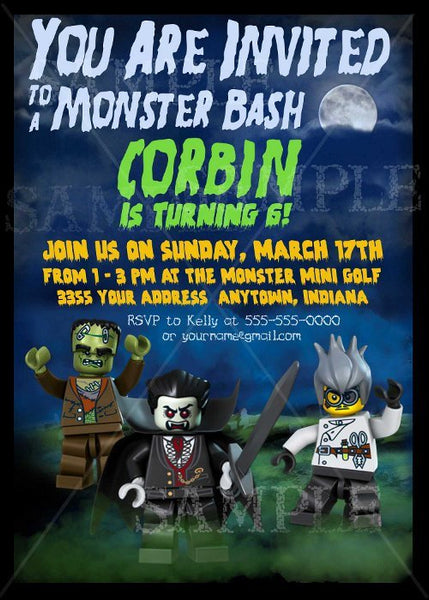 Monsters Printable Birthday Invitation