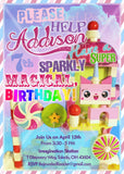 Princess UniKitty Uni Kitty Invitations Printables Custom Birthday Party