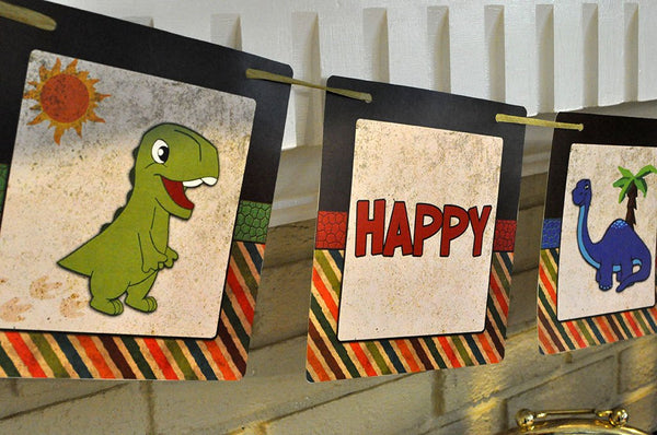 Adorable Dinosaur Printable Birthday Banner
