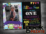 Rainbow Paint Chalkboard Birthday Photo Invitation Custom Printable