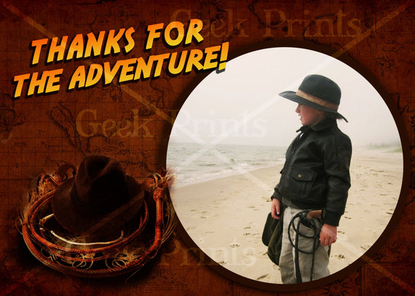 Indiana Jones Custom Printable Thank You Cards