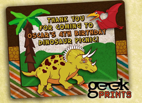 Dinosaur Thank You Customized Printable