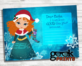 Letter to Santa Stationary with Merida Printable