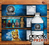 Water Bottle Wrappers Inspired by Guardians of the Galaxy Custom Printable