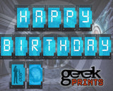 Happy Birthday Banner for Spy Party Theme