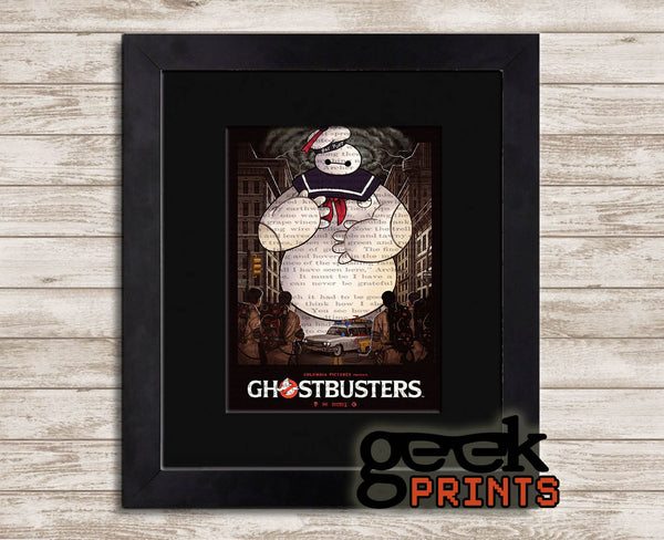 Baypuft Vintage Book Art Print