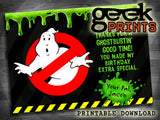 Essential Party Pack for a Ghost-Busters themed Party - Printables