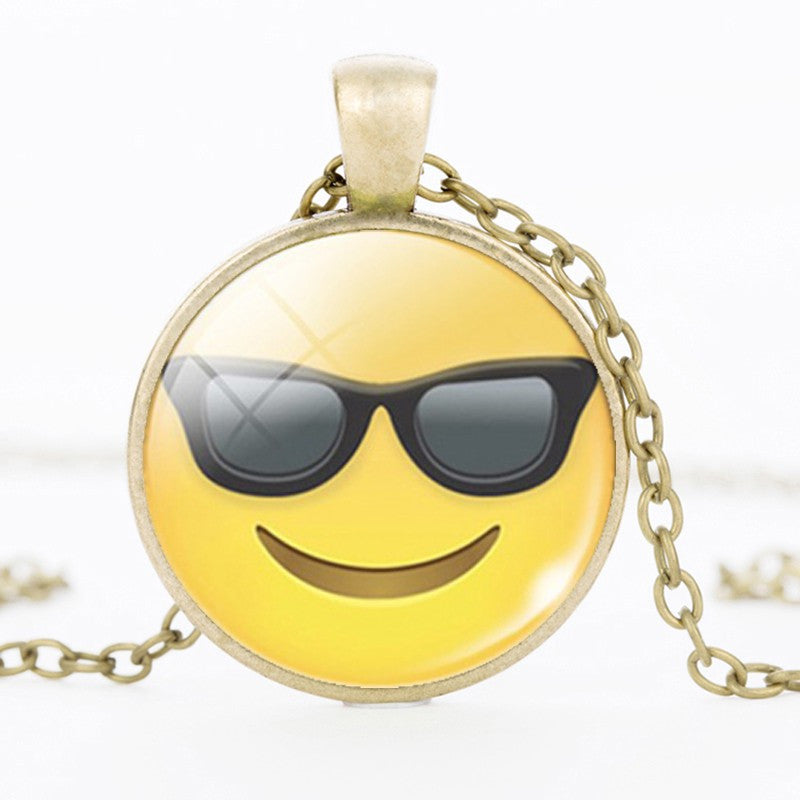 Emoji Cool Sunglass Pendant Necklace