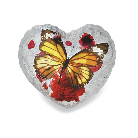 Butterfly Heart-shape Desk Decoration Real Monarch Butterfly