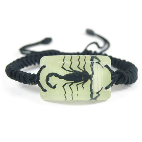 Real Black Scorpion Bracelet (Glows In The Dark)