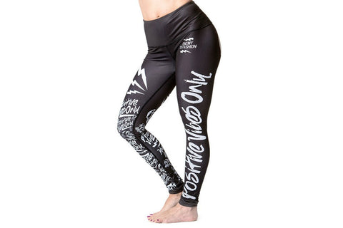 Cherry Blossom Pop Yoga Pant - BLACK