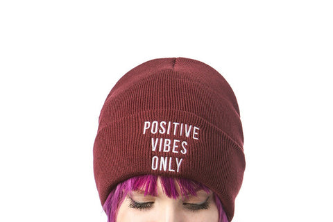 Hats - Positive Vibes Only - Knit Cap