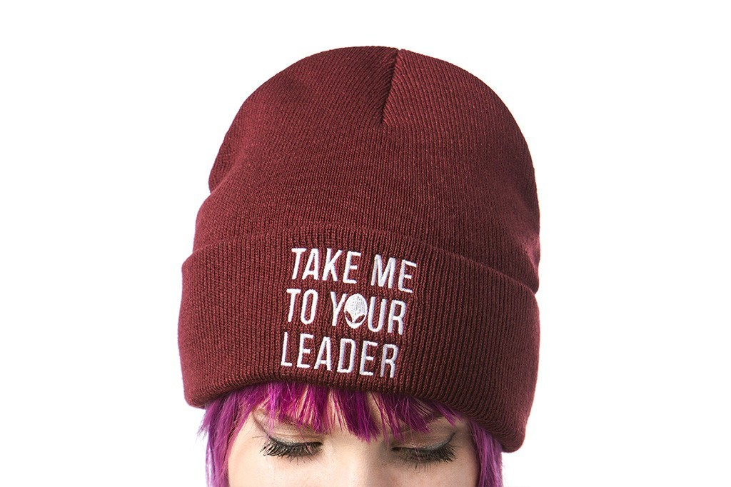 Hats - Take Me To Your Leader - Knit Cap