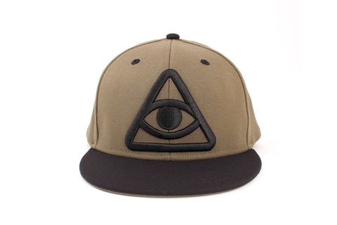 Hats - Third Eye Snapback Hat - Olive Green